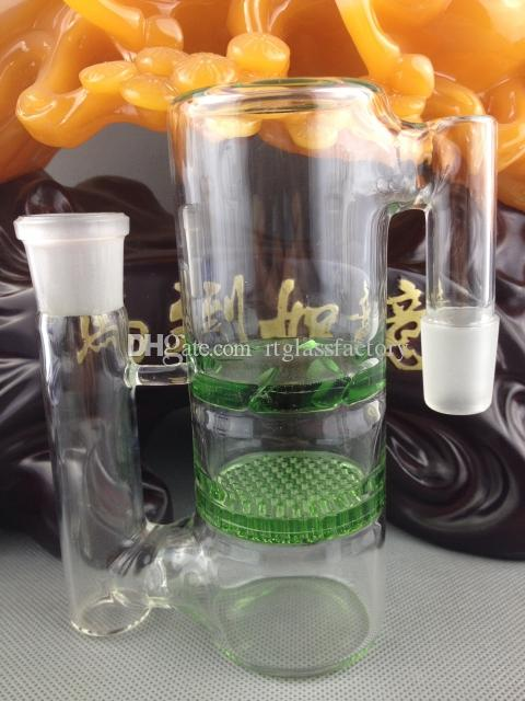 Glass Bong Ash Catcher Highly Recommended 14&18mm Various Colors Honeycomb and Turbine Perc Glass Bongs Precooler Fantastic Design