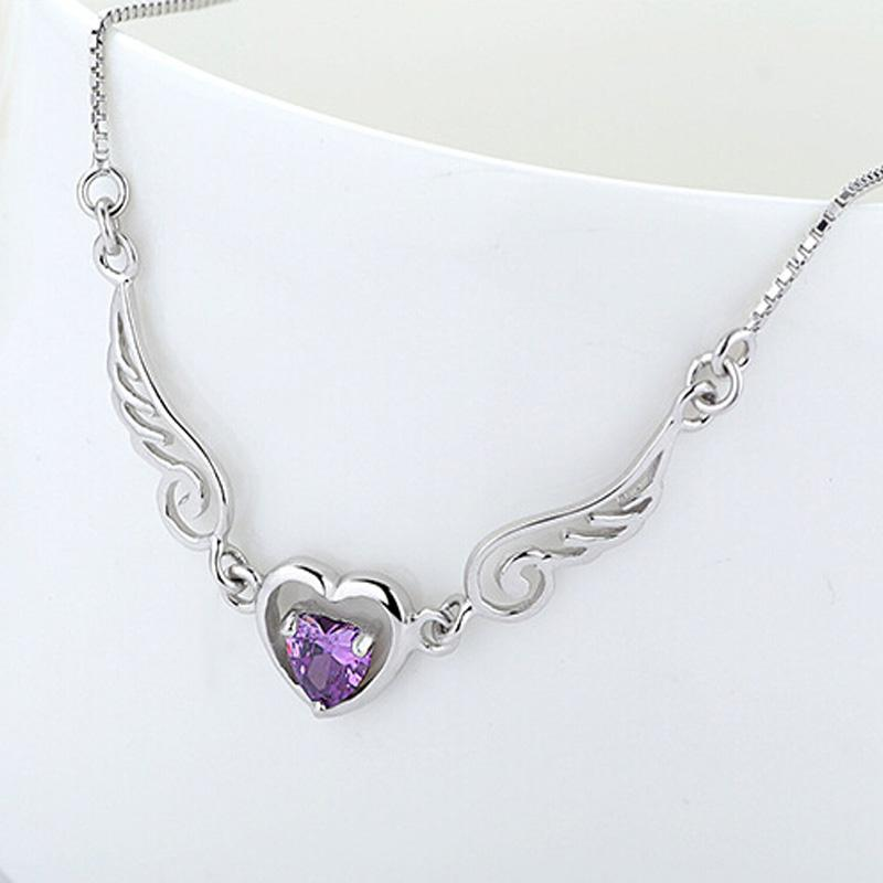 2018 wholesale angel heart pendant necklace with zircons 100 2018 wholesale angel heart pendant necklace with zircons 100 guaranteed geuinie 925 sterling silver pendants necklaces high quality yh4252 from kemyyao168 aloadofball Choice Image