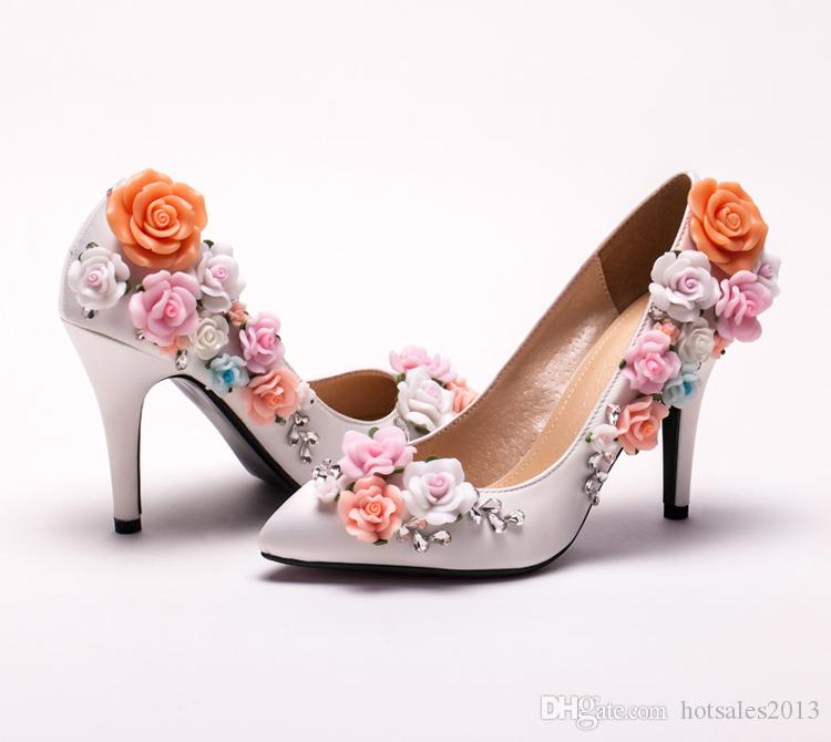 Custom Made Elegant Bridal Wedding Shoes White Satin