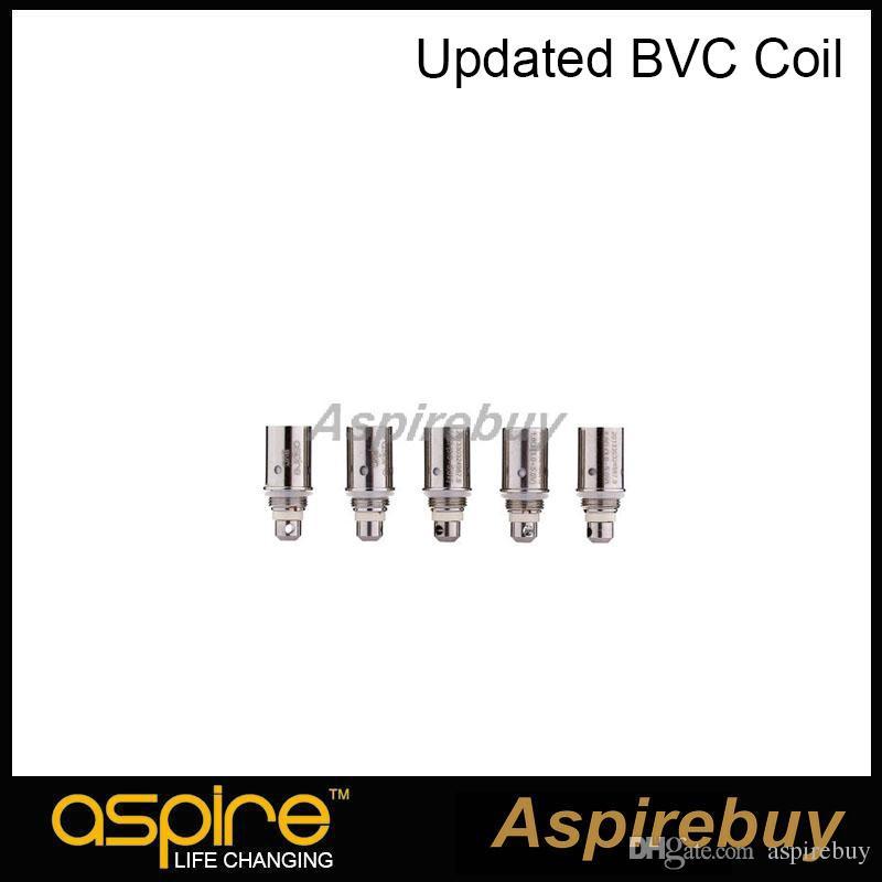 100% original Aspire Aspire BVC Spulen Dual-Spulen für Aspire CE5 CE5-S ET ET-S Clearomizer BDC Spule elektronische Zigarette aktualisiert
