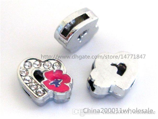 8-миллиметровое Сердце с розовыми скользящими подвесками, подходящими для 8-миллиметровых браслетов для домашних животных ошейников и брелков