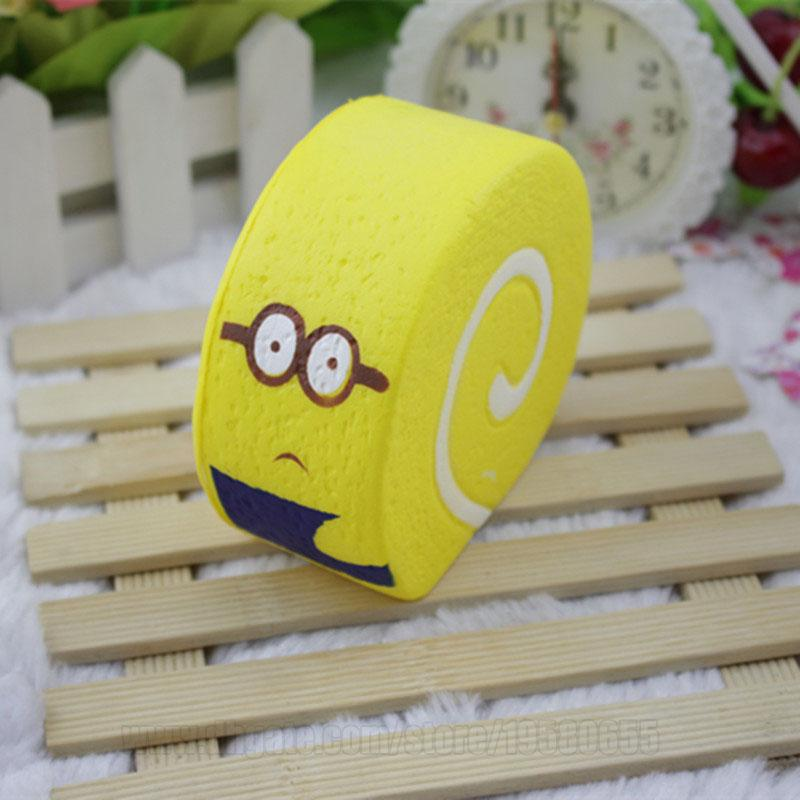 Minions Squishies Yellow Kawaii Cake Scent Rebound Slow Rising Bun Cute Squishy Food Toys Free Shipping