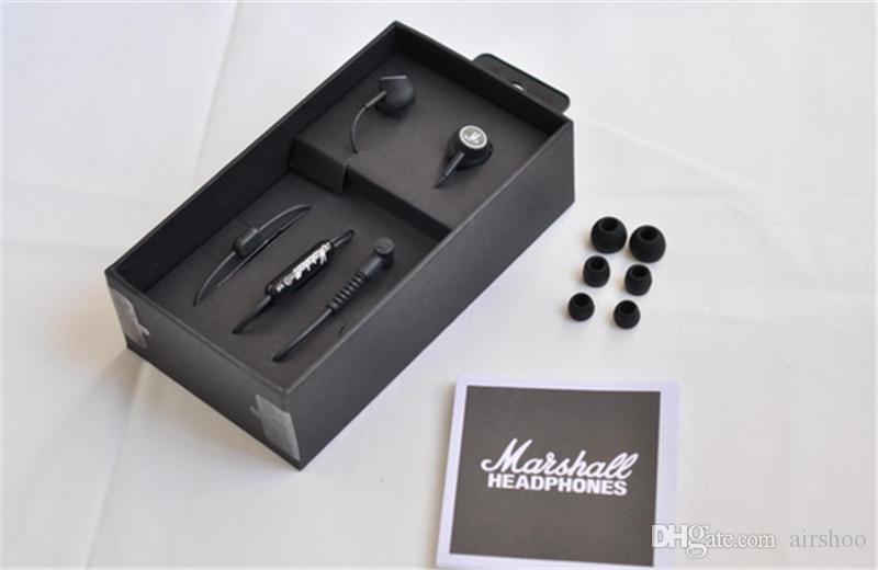 MOQMarshall MODE auriculares en auriculares de oído negro auriculares con micrófono HiFi auriculares auriculares con caja de venta sonido perfecto libre de DHL