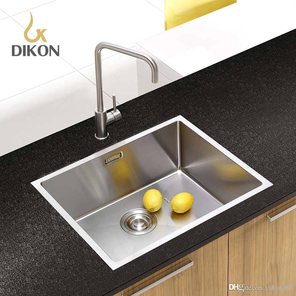 2018 Dikon 304 Stainless Steel Handmade Kitchen Sink Undermount ...