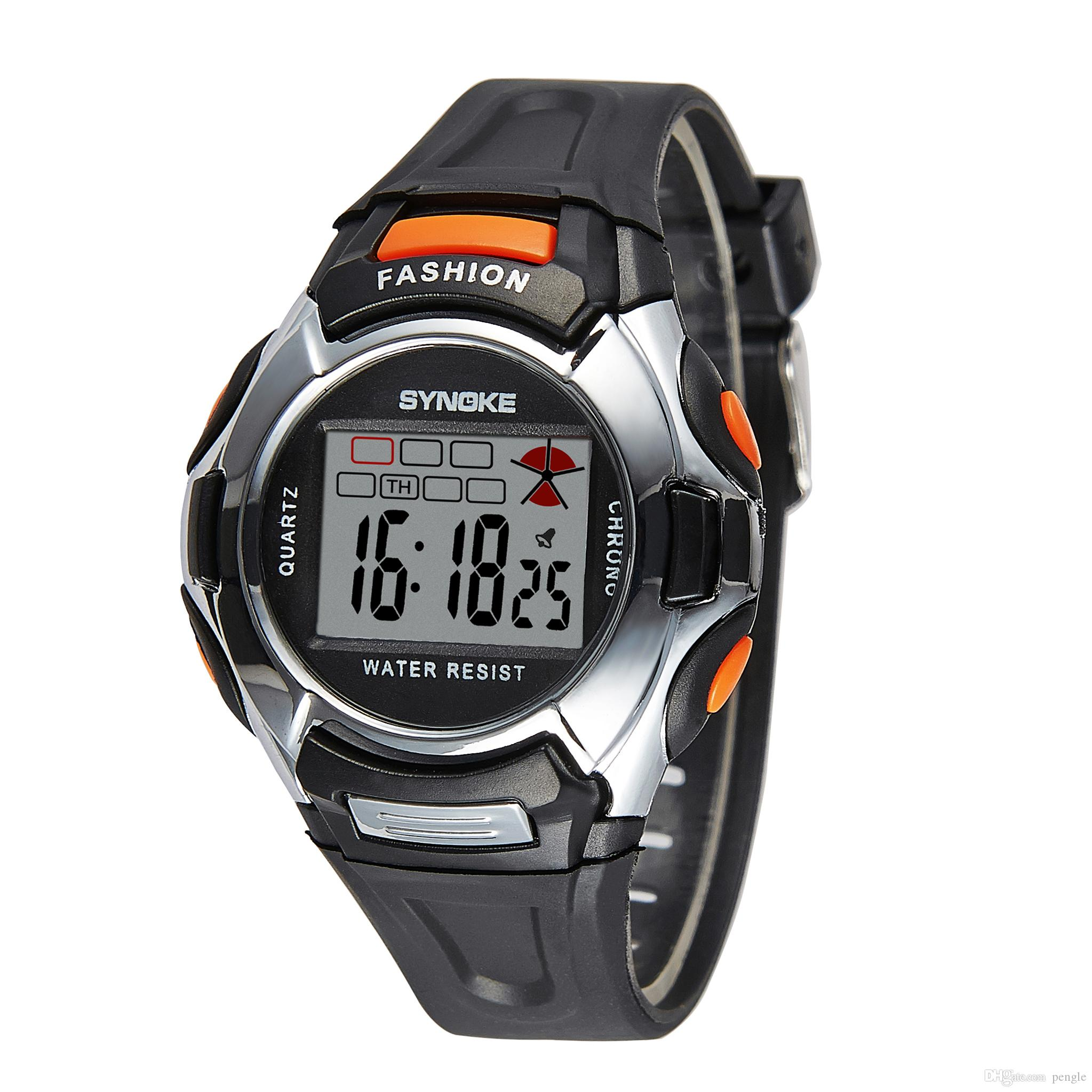Hot Sale Casual Watches Digital Watches Sports Watches Electronic PU Plastics Band Wristwatch For Children Gifts