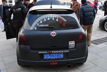 Byd F0 Car Pull Flower Speedometer Tachometer Stickers Speedometer Car Rear Windshield Stickers