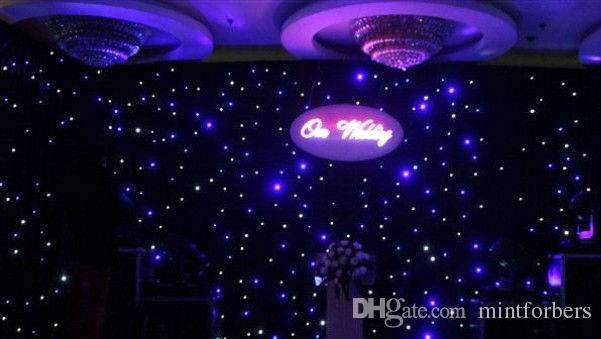 3x6 Meter LED Star Vorhang LED Star Tuch Dj Effekt Hochzeit Hintergrund mit Contoller