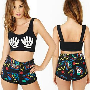 Cute Crop Tops With Shorts