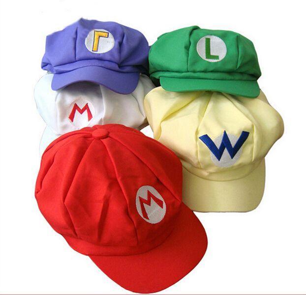 Acquista Super Mario Bros Anime Cosplay Tappo Rosso Tag Super Cotone  Cappello Di Super Mario Cappelli d816a6dc8ccd