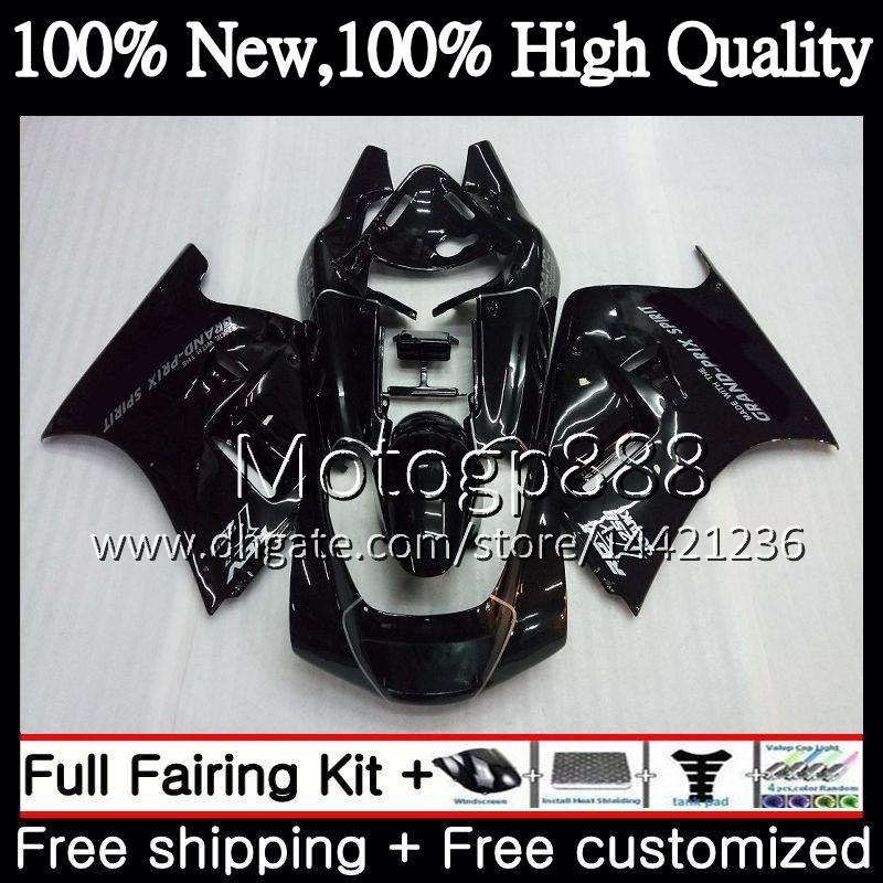 Gloss black Fairing Bodywork For SUZUKI RGV250 VJ22 90 91 92 93 94 95 96 38PG16 RGV-250 VJ 22 RGV 250 1990 1991 1992 1993 1994 1995 1996