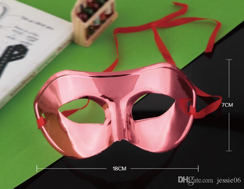 패션 마스크 할로윈 플랫 골드 도금 된 마스크 댄스 컬러 맨 그리기 또는 패턴 믹스 믹스 컬러 EMS 무료
