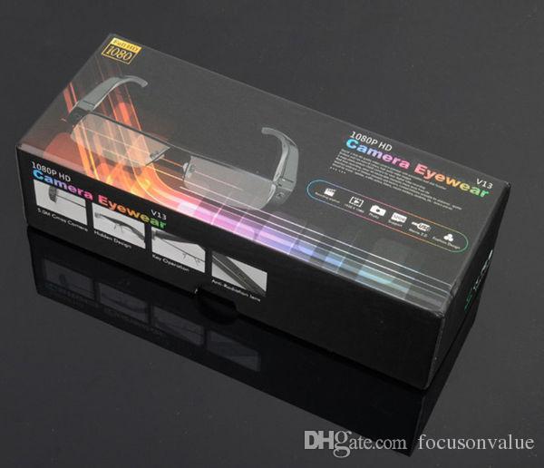 1080 P Gafas cámara auio video grabadora Full HD gafas mini dvr V13 gafas cámara TF tarjeta /