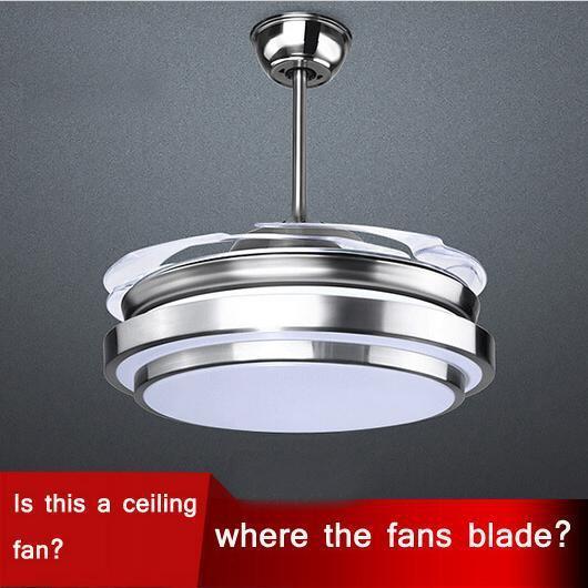 Hidden Ceiling Fan 2017 ultra quiet 42 hidden blade ceiling fan lamps 110 240v 48w
