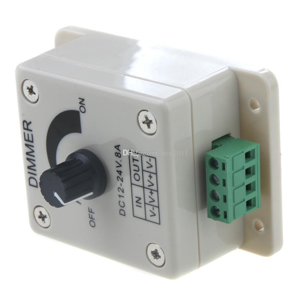DC12-24V LED Dimmer Knob-operated Control LED Dimmer Switch PWM 12V-24V LED Dimmer for LED Strip Light
