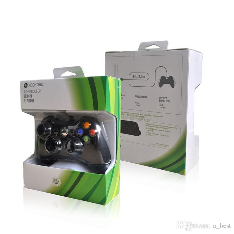Microsoft Xbox 360 USB Controller di gioco cablato Gamepad Golden Camouflage Joystick Game Pad Double Shock Controller 2017 Nuovo 1 PZ