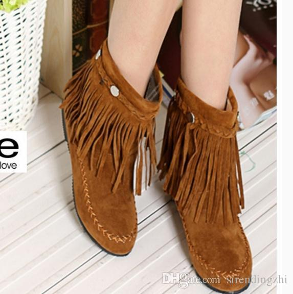 buy cheap low cost clearance low cost The fall of new nubuck leather tassel boots with a single boots discount new styles brand new unisex for sale HU7iXFMT5H