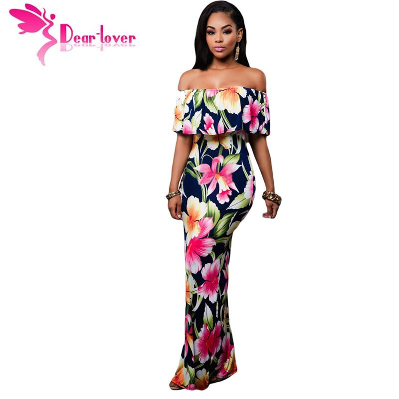Dear Lover Off The Shoulder Maxi Dresses Summer 2017 Holiday Party ...