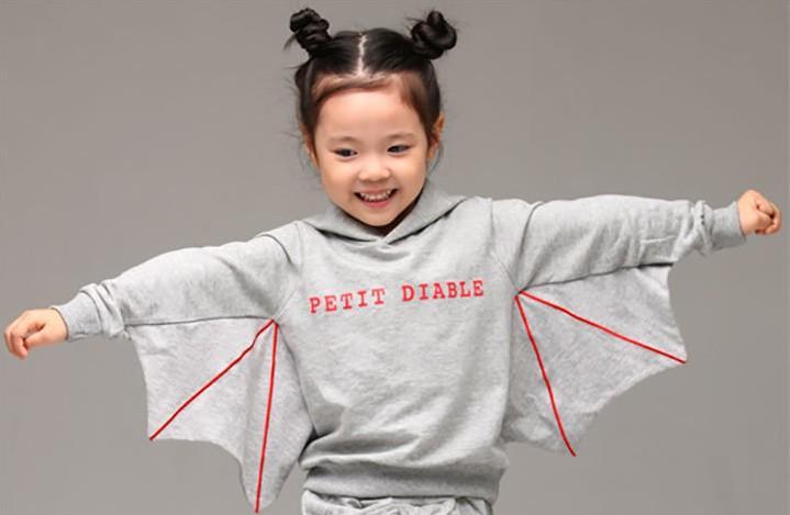 Niños coreanos de invierno chándal thikcen Agregar sudaderas con capucha de murciélago de lana + pantalones 2 unids traje de Halloween Baby Boy Girl Party Clothing Set WD308