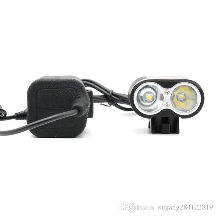 Einzigartiges Fahrradlicht mit 5000 Lumen, 3 Modi, Fahrradlicht, Scheinwerfer, Scheinwerfer und 8,4 V, 8800 mAh, wasserdichtes Akkupack-Ladegerät