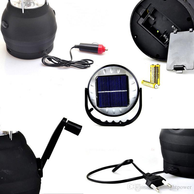 Hand Crank Dynamo Solar 36 LED Super Bright Lantern Outdoor Camping Work Light new brand