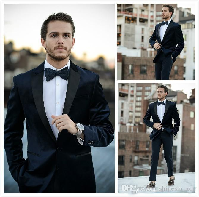 New Fashion Men Tuxrdos Two Pieces Groom Suits Custom Size Men