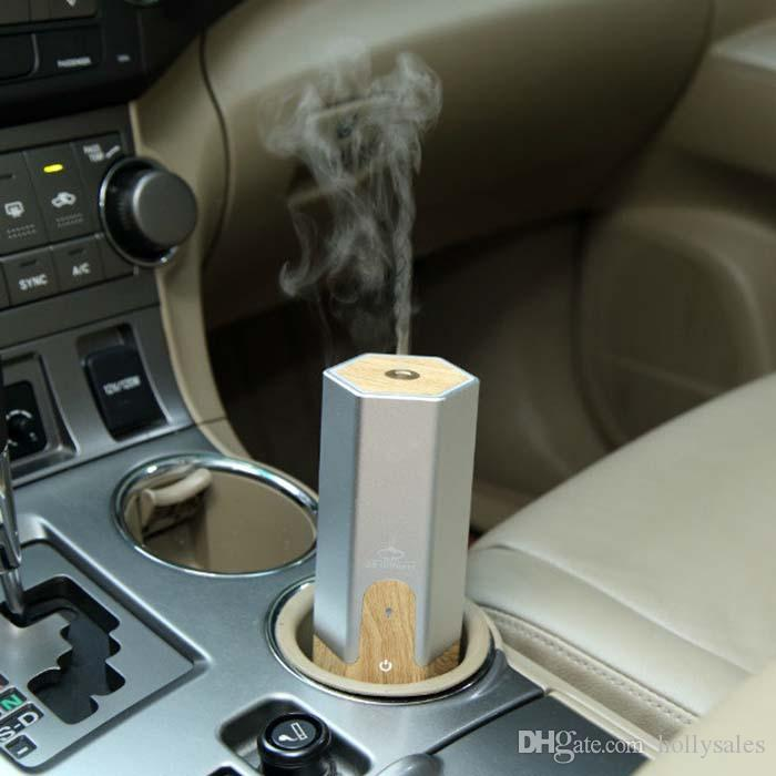 New design oil diffuser with wooden coating for car work with USB power with retial box DHL