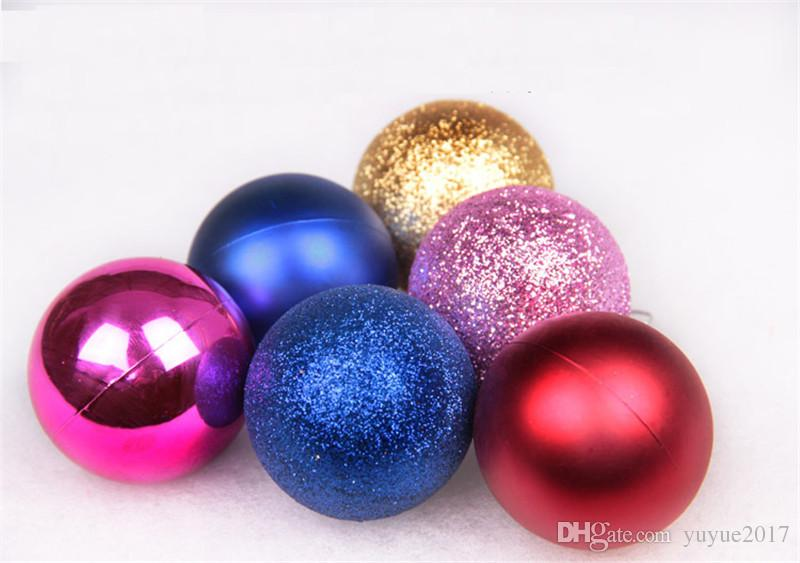 Christmas Tree Balls Ornaments Shatterproof Balls Trees Wedding Parties Mini Tree Decorations For Holiday With Muticolor