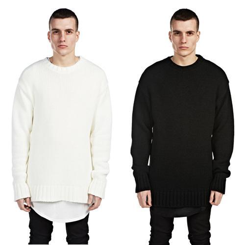 Großhandel Hot Stricken Pullover Pullover Männer Weichen Übergroßen ...