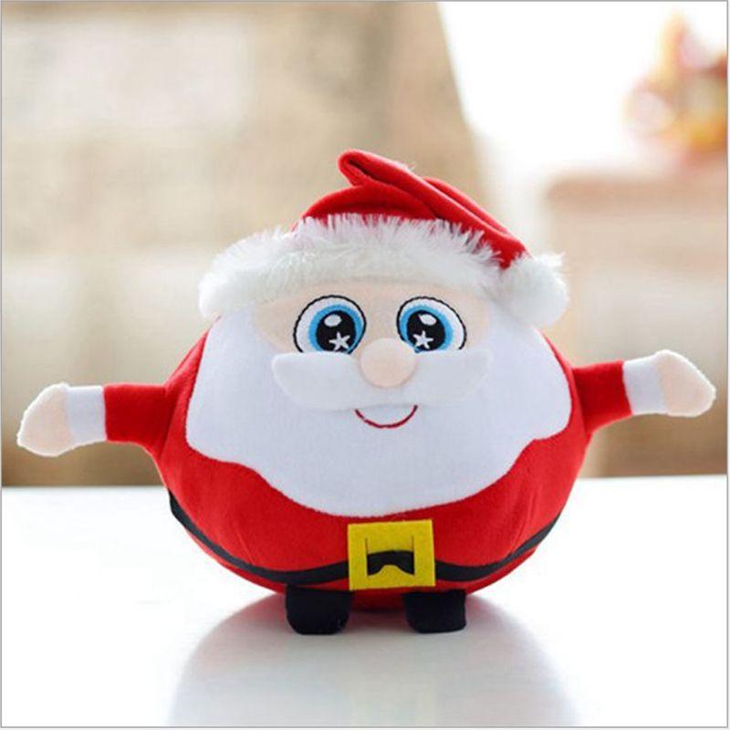 25cm christmas plush toys christmas tree santa claus elk children stuffed cute doll singing kids gift christmas soft toy musical plush toys for babies - Christmas Plush Toys