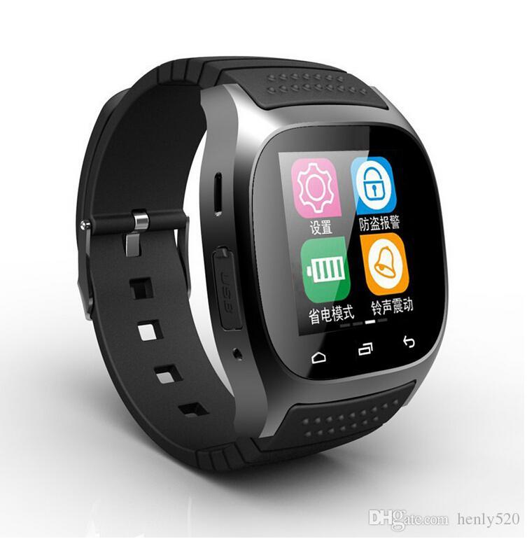 NEUE Bluetooth Smart Uhren M26 Uhr für iPhone 6/4 / 4S / 5 / 5S Samsung S5 / S4 / Hinweis 3 HTC Android Telefon für Männer Frauen Fabrik Preis
