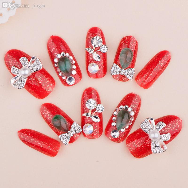 Wholesale New Fashion Women Red Crystal Diy Derorations Full Cover ...