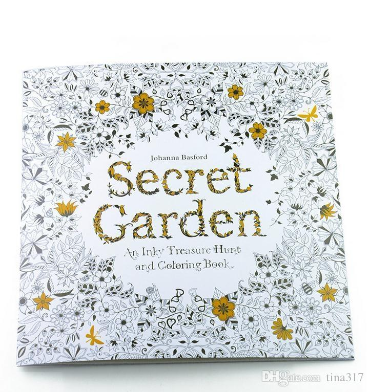 New Secret Garden Adult English Decompression Hand Painted Color In Coloring Book Enchanted Forest Children Painting Books Ing Pages For Boys Detailed