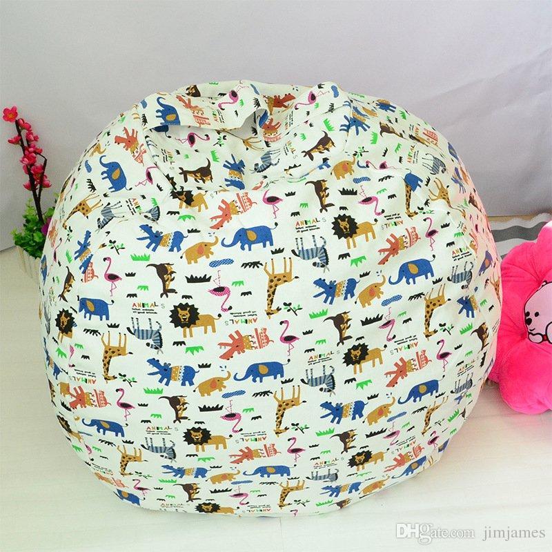 43 cm Stockage Sacs De Haricots Pouf Chaise Chaise Enfants Chambre Peluche Animal Poupées Organisateur En Peluche Jouets Buggy Sacs Bébé Tapis De Jeu