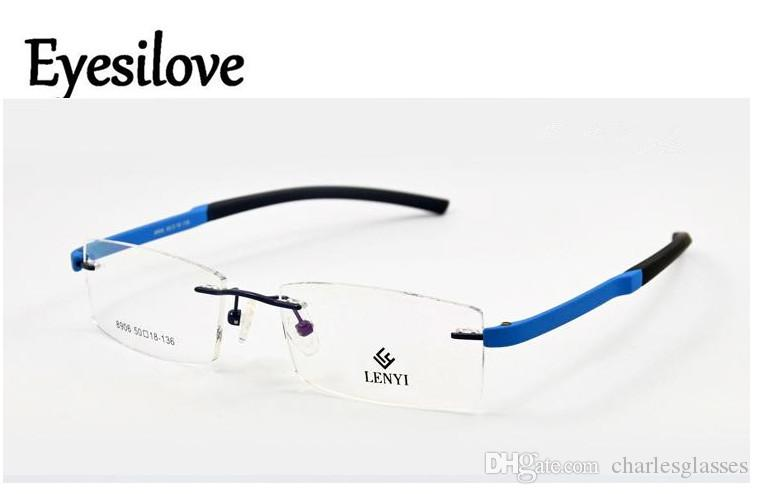a9233a23e48 Fashion TR90 Acetate Rimless Optical Frames Eyeglasses Frames For Men Women  Prescription Myopia Or Reading Glasses Eyeglass Frames For Face Shapes ...
