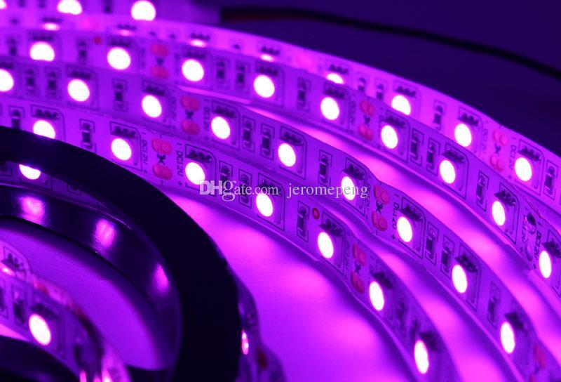 RGB UV Rose Rouge Vert Rouge Blanc SMD 5050 300LEDs LED Bande Flexible CC 12V Vacances éclairage de Noël
