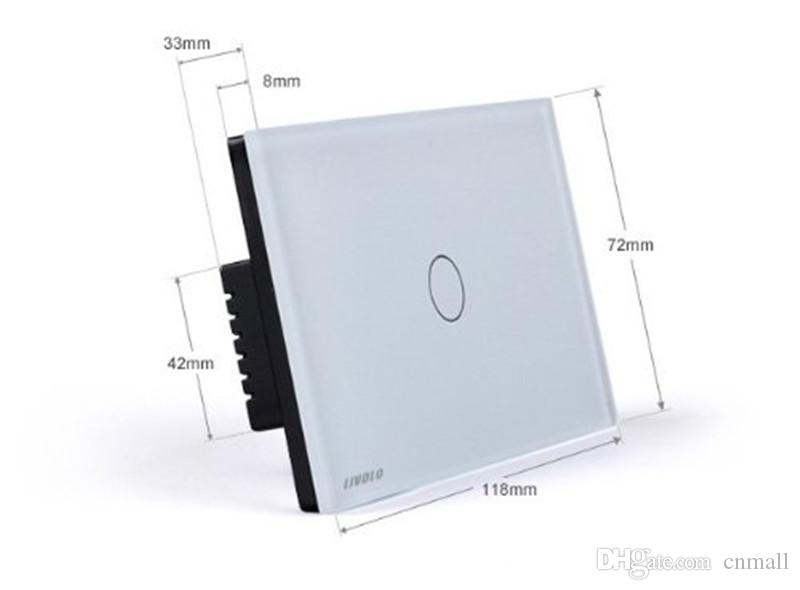 Livolo Wall Touch Switches Pannello in vetro di cristallo avorio US / AU standard VL-C301SR-81 Interruttore di luce domestico remoto in modalità wireless 2-Way + VL-RMT-02