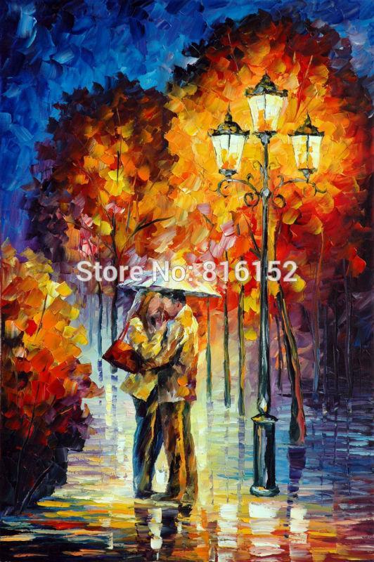 7021-24x36 KISS UNDER THE RAIN