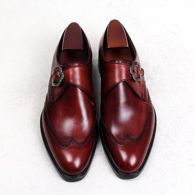 roe4af319 scarpe eleganti bordeaux uomo