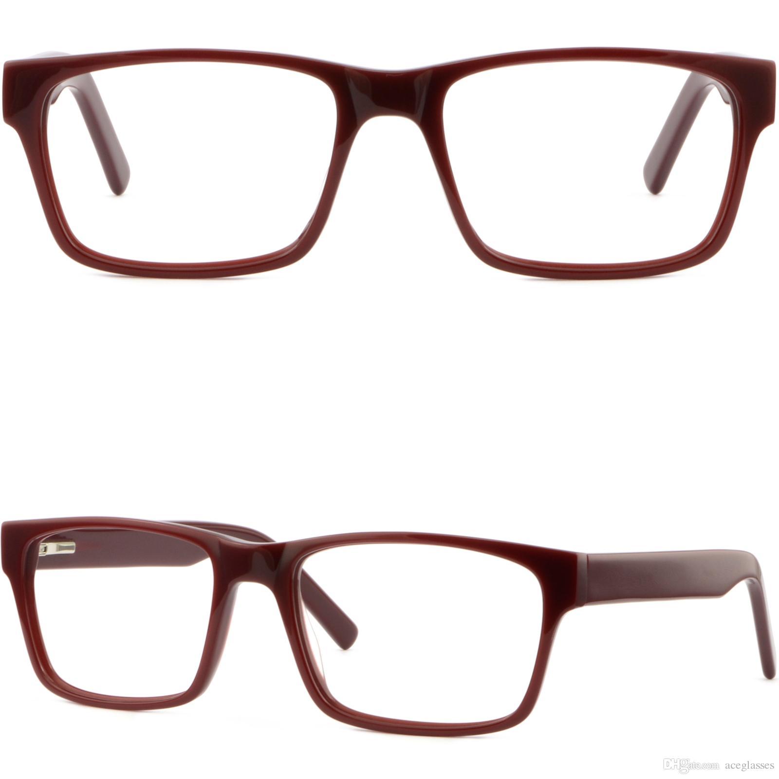 7d28ad33493 Full Rim Women Men Plastic Frames Rectangle Glasses Sunglasses Spring  Hinges Red Glasses Frame Online with  31.08 Piece on Aceglasses s Store