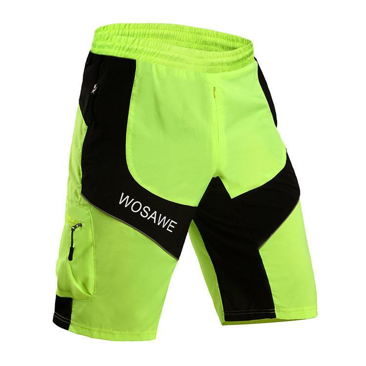 2016 neue Radfahren Shorts Männer Lose Fit Lässige Reflektierende Fahrrad Shorts Tragen Atmungsaktiv Quick-Dry MTB Fahrrad Bottoms Hosen Sommer