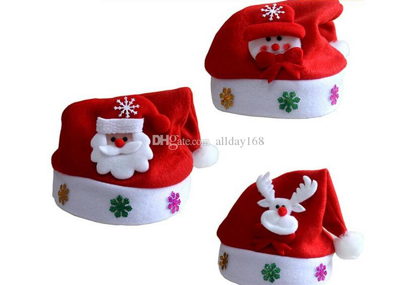 christmas hats for children kids cute santa claus hats christmas cosplay decoratio caps xmas hats christmas gifts nemo party supplies newspaper party hats