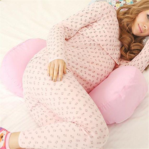 Washable Nursing Pillows Pregnant Women Sleep Pillow Pregnancy Cartoon Printed Waist Pillow Good Sleep Brand Design H337