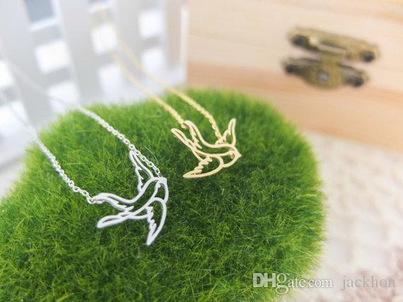 30 шт.-B025 золото серебро прекрасный оригами Ласточка браслет животных бумаги птица браслеты милый дикий голубь летающих птиц браслет
