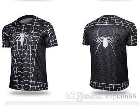 2016 new t-shirt Batman Spiderman Ironman Superman Captain America Winter soldier Marvel T shirt Avengers Costume Comics Superhero mens
