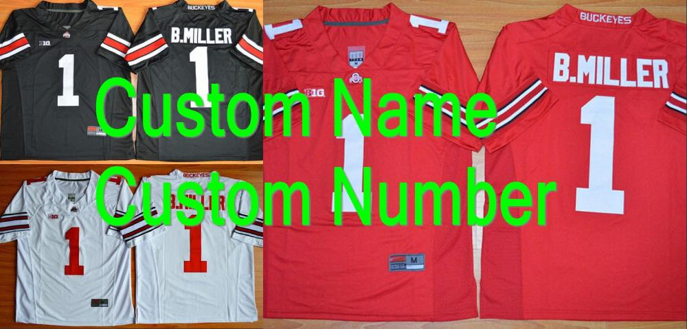 Factory Outlet- Custom Ohio State Football Jersey Personalized Ohio State  Buckeyes Jersey College Football Jersey 27a03e656