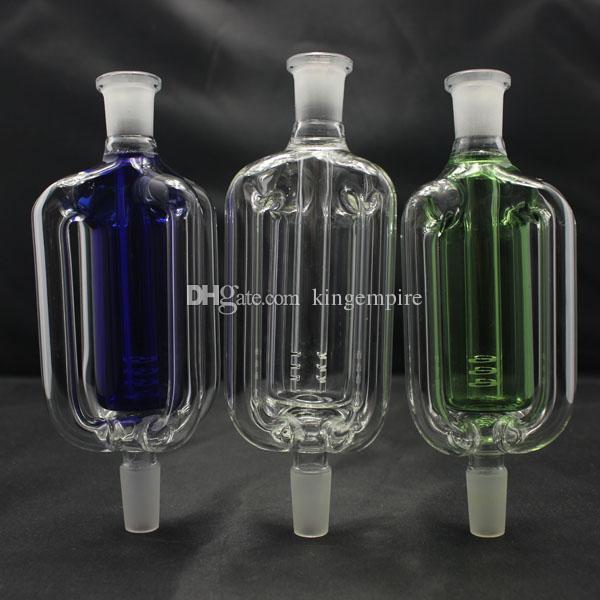Новый дизайн стекла Золоуловитель с downstem 14 мм совместное стекло ресайклер для стекла бонги водопровод 3 цвета