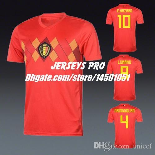 Camisetas Romelu Lukaku Belgium World Cup 2018 Soccer Jerseys ... 648cf18ad