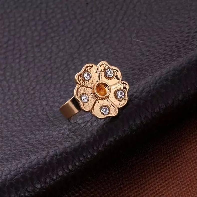 Zircon Rhinestone Diamond Earrings Ring Bracelets And Necklaces Jewelry Sets with Diamonds flowers pendants bride Wedding Jewelry Sets