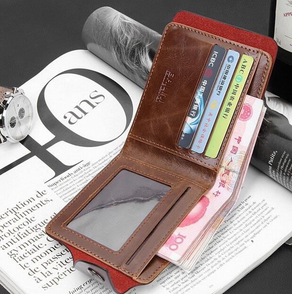 PU Leather Wallets Spring High Quality Brand New Mens Leather Wallet Pockets Card Clutch Center Bifold Purse for Men/Women