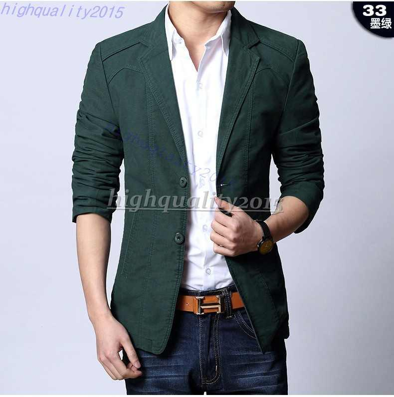 Online Cheap Spring 2015 Men Suit Jacket Terno Masculino Latest ...